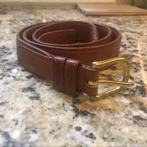 6300 COACH British Tan Cowhide Leather belt.